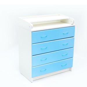 комод с пеленальным столиком голубой